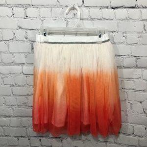 Garnet Hill Kids Girls' Everyday Tulle Skirt Ombre